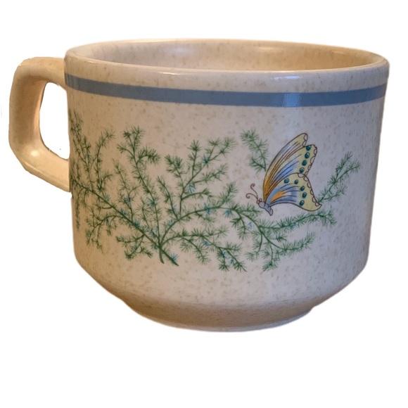 6 Temper-ware by Lenox Fancy Free Coffee Mugs